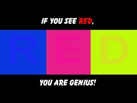 If you can see red you are a genius