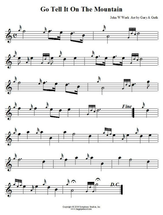 Bagpipe sheet music for fairytale of new york