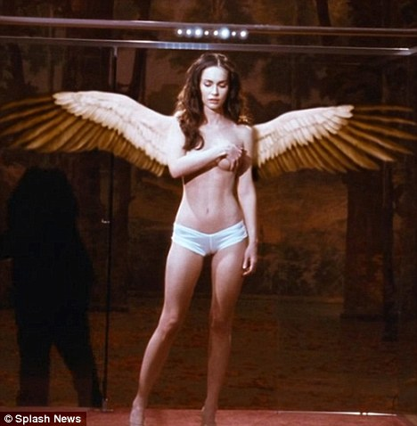 Nude women with wings