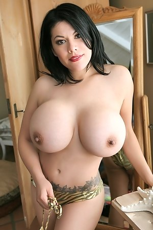Worlds largest boobs on a sexy babe nude