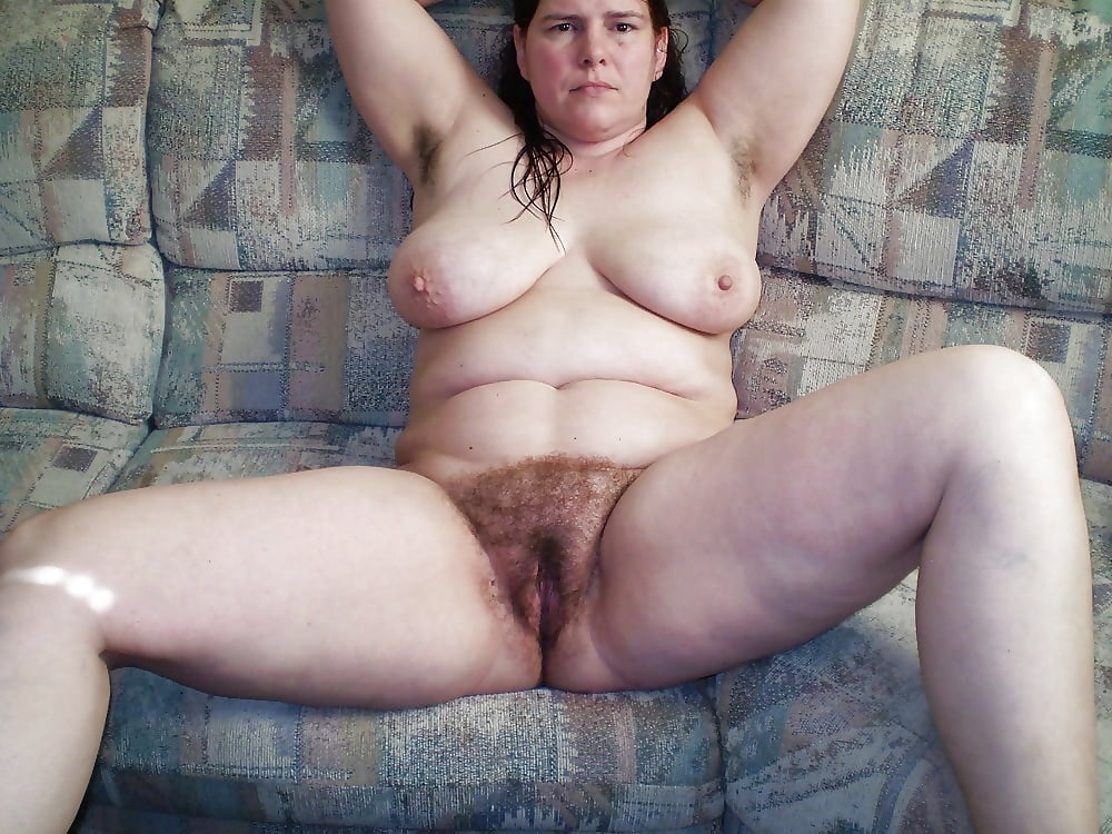 Nude and hairy women