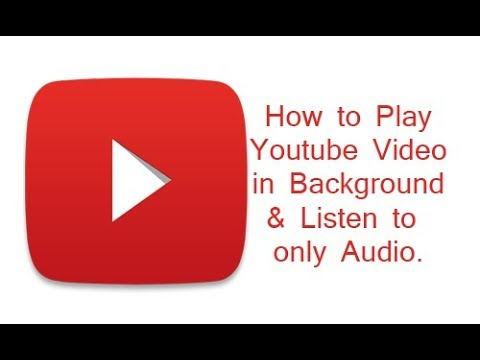 Play youtube audio only