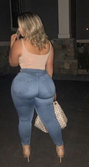 Thick white butts